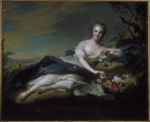 Portrait d'Henriette de France en Flore