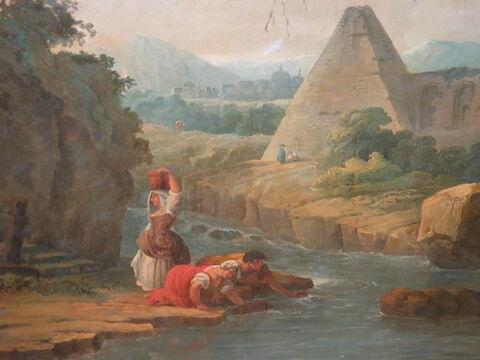 face, recto, avers, avant ; détail © 2005 Musée du Louvre / Peintures