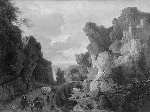 Paysage montagneux, les Gorges d'Ollioules