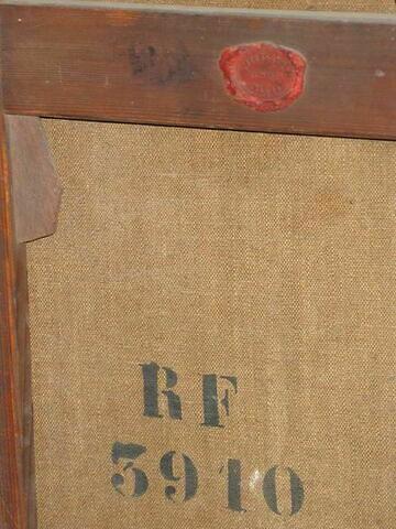 dos, verso, revers, arrière ; détail marque au pochoir © 2009 Musée du Louvre / Peintures