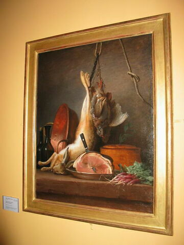 Nature morte : lièvre, perdrix et jambon