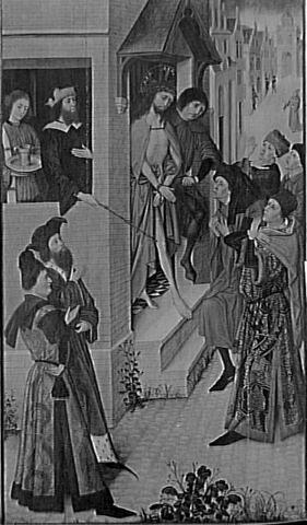 Le Christ chez Pilate. Au revers : La Vierge de l'Annonciation (grisaille)