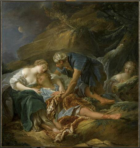 Le Berger Amynthe tombé du rocher revient à la vie dans les bras de Sylvie