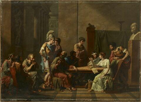 Aspasie s'entretenant avec les hommes illustres d'Athènes