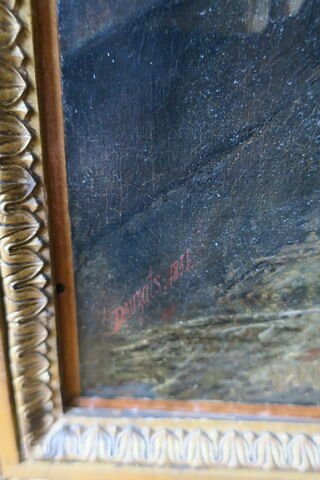 détail signature ; cadre ; face, recto, avers, avant © 2019 Musée du Louvre / Peintures