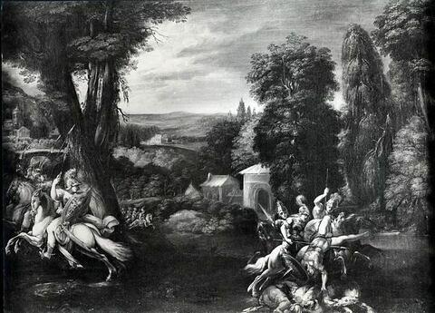 Combat des Amazones et des Grecs