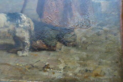 détail ; face, recto, avers, avant ; partie droite ; partie inférieure © 2019 Musée du Louvre / Peintures