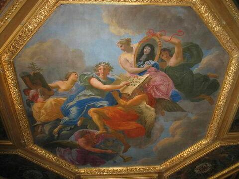 Plafond : Allégorie à la gloire de Philippe d'Orléans, frère de Louis XIV.