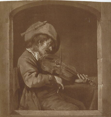 Joueur de violon à une fenêtre