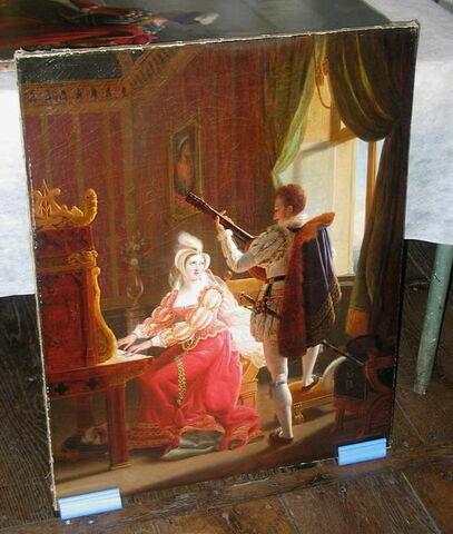 La Musique. Marie Stuart faisant de la musique avec David Rizzio