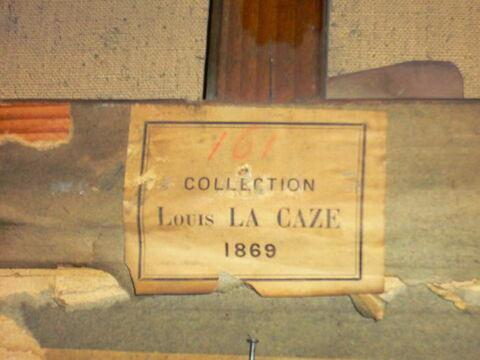 dos, verso, revers, arrière ; détail étiquette © 2008 Musée du Louvre / Peintures