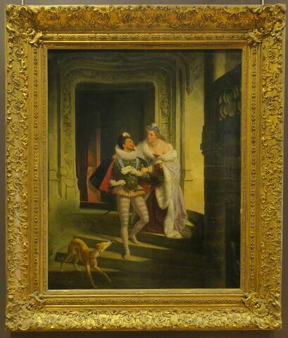 La Marquise de Noirmoutiers cherchant à détourner le duc de Guise de se rendre à l'assemblée des États de Blois