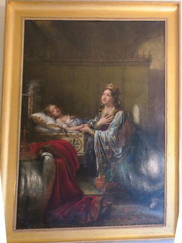 Sainte Clotilde, Reine de France, demande à Dieu la guérison de son fils