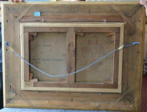 châssis ; détail inscription ; détail marque au fer ; détail marque au pochoir ; dos, verso, revers, arrière © 2019 Musée du Louvre / Peintures