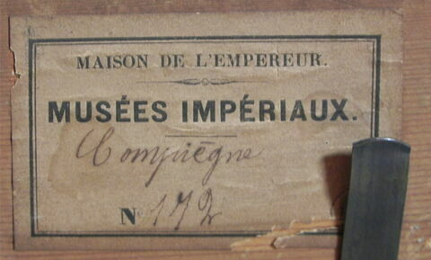 dos, verso, revers, arrière ; détail étiquette © 2014 Musée du Louvre