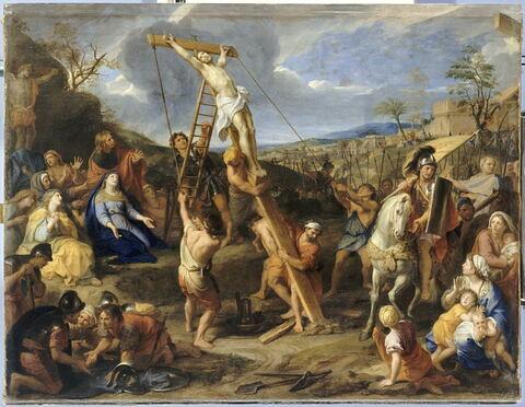 Jésus élevé en croix