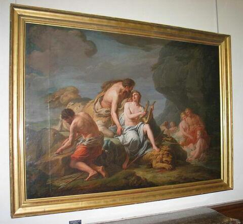 Achille instruit dans la musique par le centaure Chiron