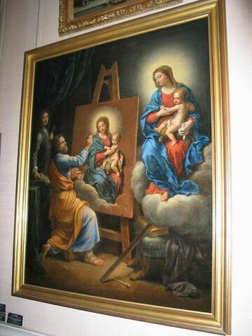 Saint Luc peignant la Vierge avec l'Autoportrait de Mignard