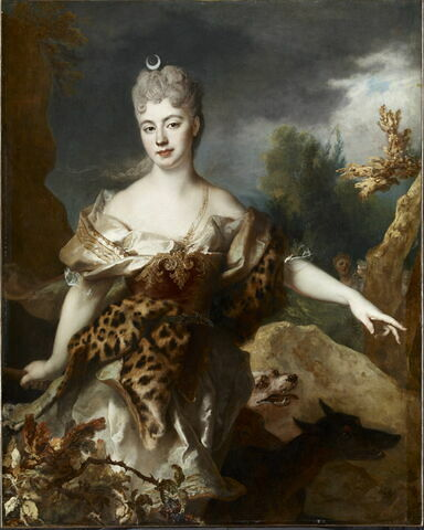 Portrait de femme en Diane, dit à tort Mlle de Barral