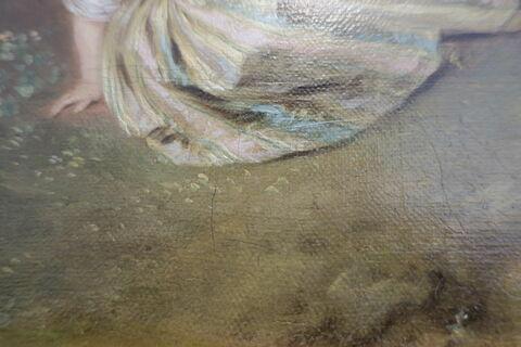 face, recto, avers, avant ; détail ; partie inférieure ; partie gauche © 2019 Musée du Louvre / Peintures