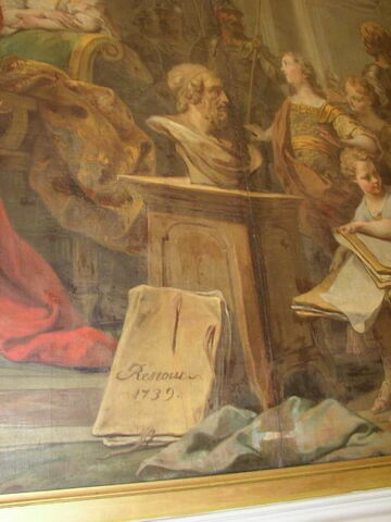 face, recto, avers, avant ; détail signature © 2003 Musée du Louvre / Peintures