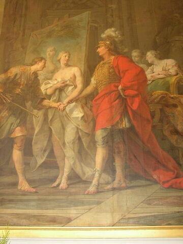 face, recto, avers, avant ; détail © 2003 Musée du Louvre / Peintures