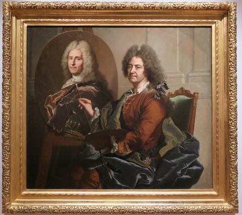 Hyacinthe Rigaud peignant le portrait de François de Castagnier