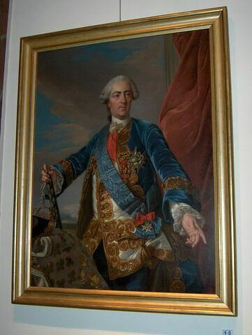 Portrait de Louis XV, vu à mi-corps