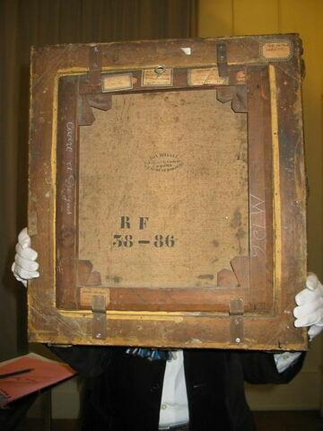 dos, verso, revers, arrière ; vue d'ensemble © 2008 Musée du Louvre / Peintures