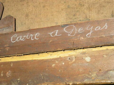 dos, verso, revers, arrière ; détail inscription © 2008 Musée du Louvre / Peintures
