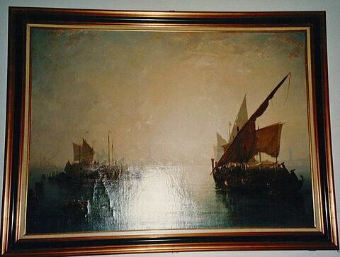 Vue de Venise, brouillard du matin