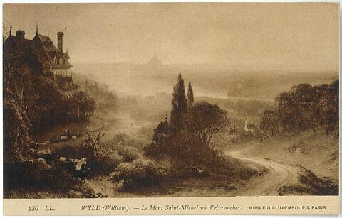 Le Mont Saint-Michel, vue prise d'Avranches