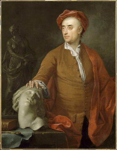 Portrait présumé du sculpteur anglais Michael Rysbrack (1694-1770)