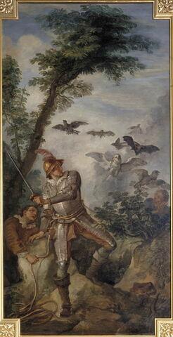 Don Quichotte et les oiseaux de la caverne de Montesinos