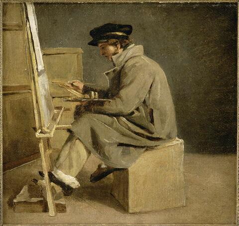 Jeune peintre à son chevalet