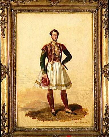 Portrait d'homme en costume grec