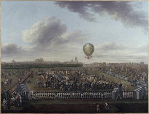 Le Retour à Lille des aéronautes Blanchard et Lépinard, dit aussi La quatorzième expérience aérostatique de M.Blanchard accompagné du chevalier Lépinard, faite à Lille, le 26 août 1785