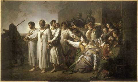 Dévouement patriotique de six bourgeois de Calais en 1342