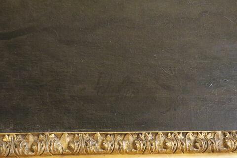 détail signature ; face, recto, avers, avant ; partie inférieure © 2019 Musée du Louvre / Peintures