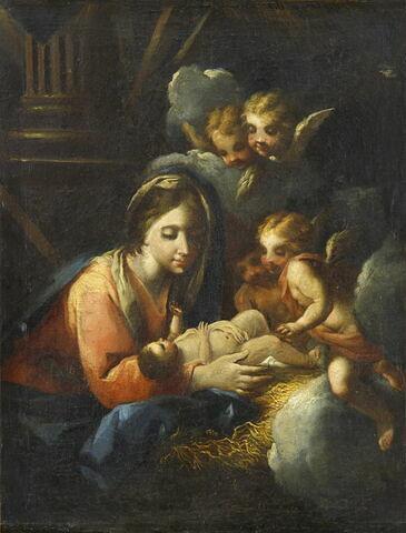 Vierge à l'Enfant adoré par les anges