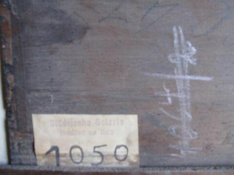 dos, verso, revers, arrière ; détail étiquette © 2013 Musée du Louvre / Peintures