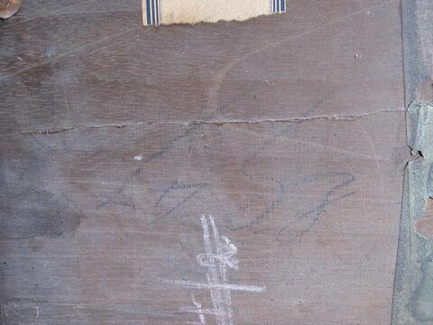 dos, verso, revers, arrière ; détail inscription © 2013 Musée du Louvre / Peintures