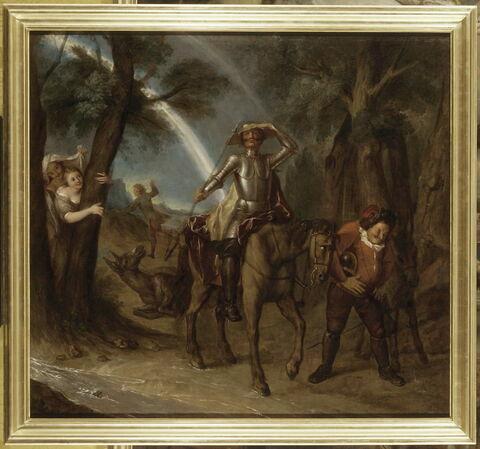 Don Quichotte prend le bassin d'un barbier pour l'armet de Mambrin