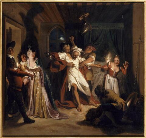 Don Quichotte endormi combat contre les outres