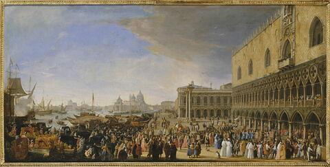 L'Entrée solennelle du comte Jacques Vincent Languet de Gergy, ambassadeur de France, au Palais ducal de Venise, le 4 novembre 1726