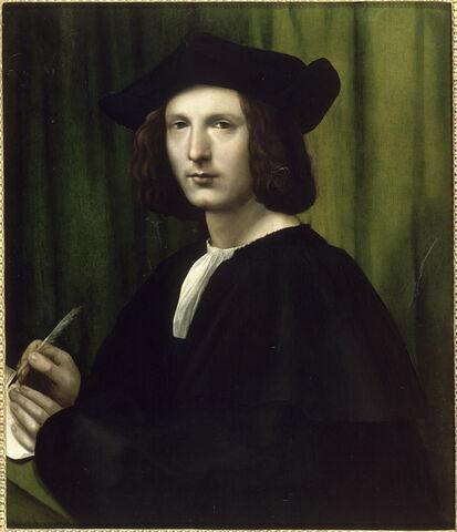 Portrait d'homme vêtu de noir