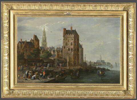 Marché aux poissons dans une ville portuaire ; ou Le Marché aux poissons d'Anvers