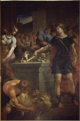 Sacrifice des Thessaliens sur le tombeau de Néoptolème