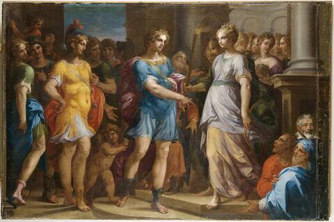 Théagène prend le flambeau des mains de Chariclée