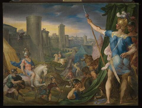Vue du camp des Croisés devant Jérusalem